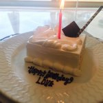 It was a complimentary cake just loved it gteat hospitality