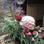 Floral arrangement in reception area