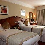 Twin room, tea/coffee facilities, bath, shower, flat screen tv, radio