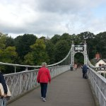 Suspension bridge over the Dee