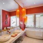 Villa Sun-Bathroom at garden view bedroom