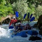 Rafting the Cetina River near Omis, Croatia