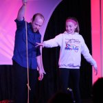 Erik Dobell during the  Impossibilities magic show!