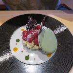 Delicious macaroon dessert