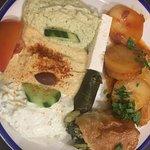 Vegetarian platter for one