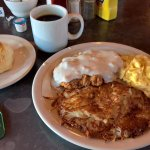 Fried steak with gravy