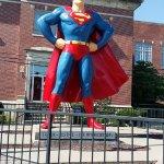 Giant Superman Statue