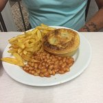 pie chips beans