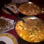 wok poulet crevette légumes lait de coco citronnelle