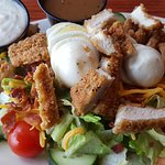Fried chicken 1/2 salad....very good and fresh!