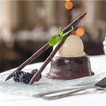 Yummy chocolate bomb for dessert
