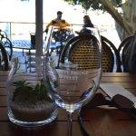 Glasses and inside for winetasting