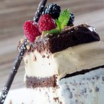 Michael's legendary Ice Cream Brownie Stack from the professional in-house pastry shop.