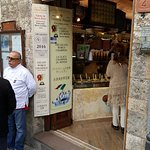 The best Gelateria in all of San Gimignano, Italy, in the center of the walled city.