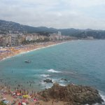 Beach in Lloret de mar, less than 5 mins walk from the hotel.