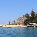 Vue depuis le bateau qui fait le tour d'Ortigia.