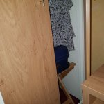 Wardrobe didn't open as hitting off the bed!