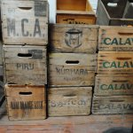 Old fruit crates from this majhor growung region.
