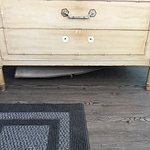 Top drawer falls out if used. Bottom drawer stuck closed and bottom of dresser falling out.