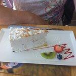 An unusual cheesecake - more like a cream slice.