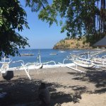 Diving from Amed beach