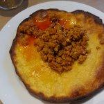 Tortu frito con Picadillo