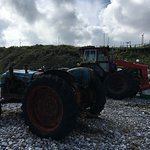 Old boat launching tractors