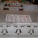 Iscon temple foot stone