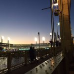 Night View of PNC Park from Bridge