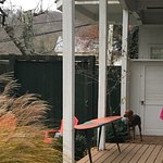 1 of 2 private entries to the Boathouse. With deck, seating, garden, & gate exit to street/parki