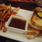 Short Rib Grilled Cheese with fries