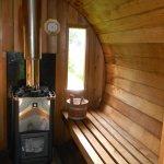 Hout gestookte sauna
