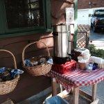 Summer coffee service