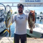 My brother and friends caught some red groupers and yellow jack