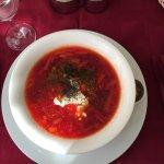 Delicious Russian Borsch soup