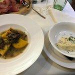 Polenta con funghi e gorgonzola