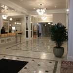 This is the marble entry to the hotel