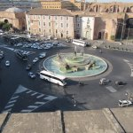 Looking down on the Piazza Republica from the rooftop