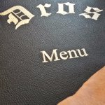 ...the menu
