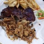 ...sirloin steak, onion & chips