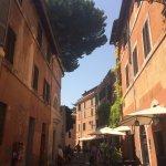 just left the Piazza Santa Maria entering via della paglia, the tree of the church