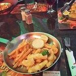 ....succulent calamari, tarta sauce & chips