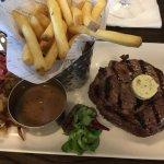 Main course ribeye steak