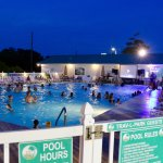 Nighttime pool party with a DJ and karaoke. What more could you want?