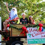 Santa and his elves came to visit for Christmas in July! Presents and summer-time cheer for ever