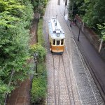 Tram 273 from Portugal seen from the bridge