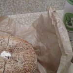 Sesame Bagel, Lox Spread and Coffee