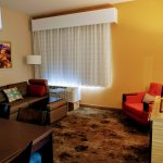 Our spacious one bedroom suite living area