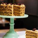 Gluten Free Coffee & Caramlised Walnut Cake