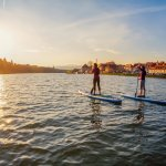 Sunsets and paddle boarding on Drava river. Pure relaxation.